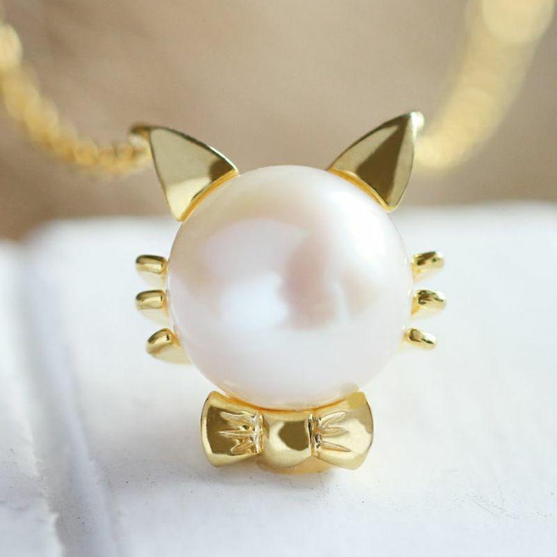 ネッコレス アコヤ真珠 一粒 ゴールドネックレス